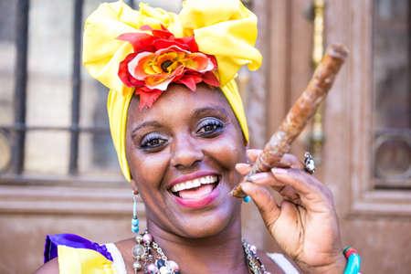 mujeres maduras: Retrato de la mujer cubana africano