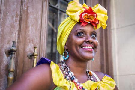 cuba: Portrait of african cuban woman