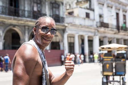 sympathetic: Sympathetic cuban man smiling in Havana, Cuba