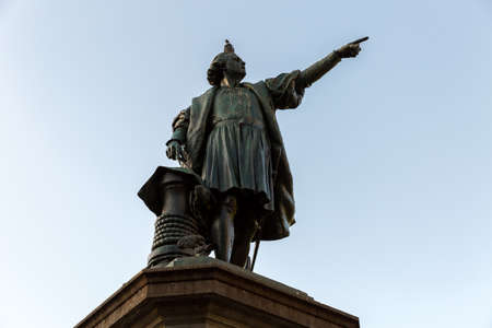 domingo: Columbus Statue at Colon Park in Santo Domingo, Dominican Republic