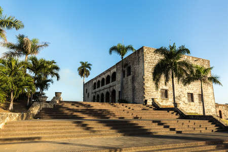 domingo: Alcazar de Colon in Santo Domingo, Dominican Republic Stock Photo