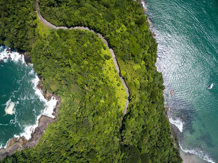 bali beach: Top View of Exotic Hill in Brazil