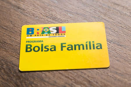 familia: Bolsa Familia Card Stock Photo