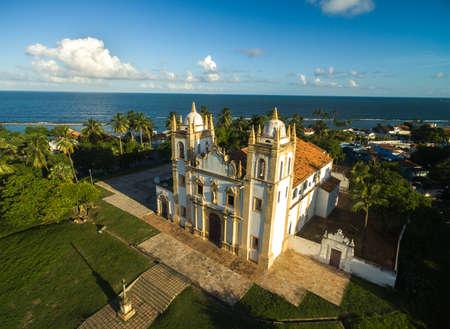 carmo: Aerial view of Carmo church in Olinda, Pernambuco, Brazil