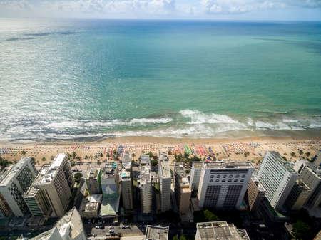 brazil beach: Top view of beach in Brazil