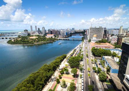 Aerial view of Recife, state of Pernambuco, Brazil Imagens