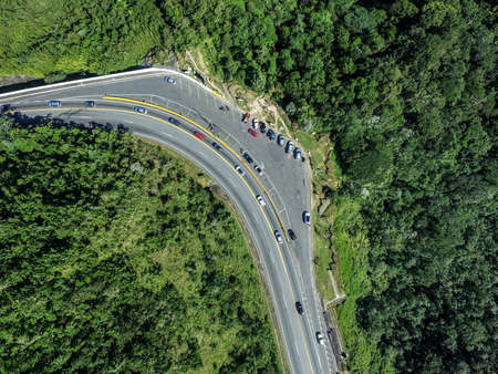 curve: Top view of curve in a highway