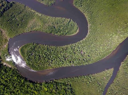 rio amazonas: Vista superior de la selva tropical del Amazonas, Brasil