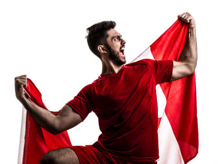 Soccer fan with Canada flag