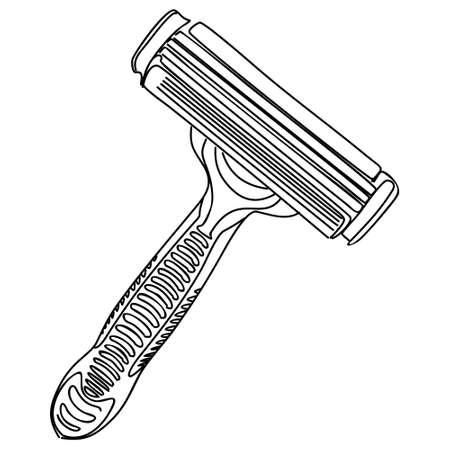 aftershave: razor, vector Illustration