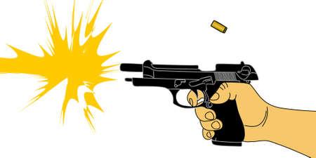 firing: firing gun Illustration