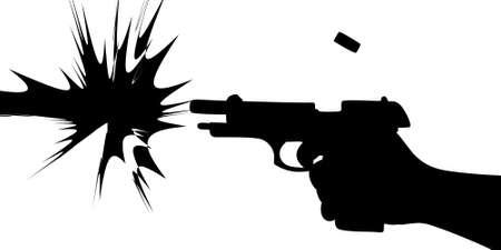 tir pistolet Vecteurs