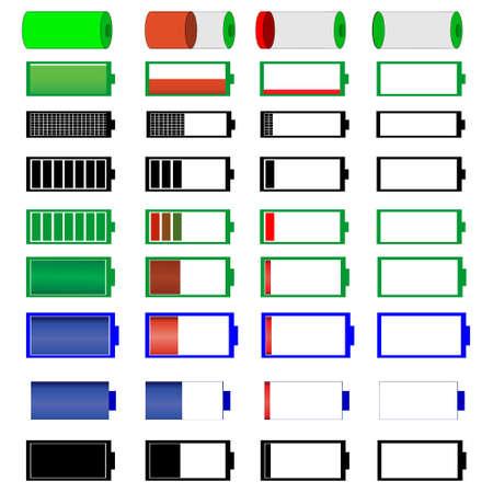 medium: symbols of battery level