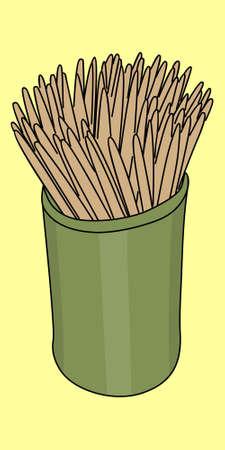 food hygiene: Toothpicks illustration