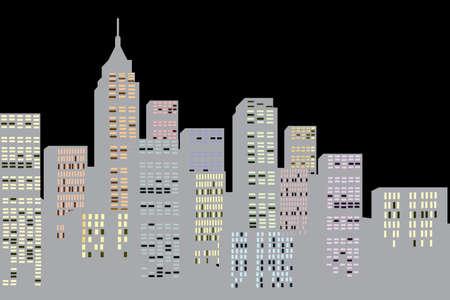 sky scraper: New York city, illustration
