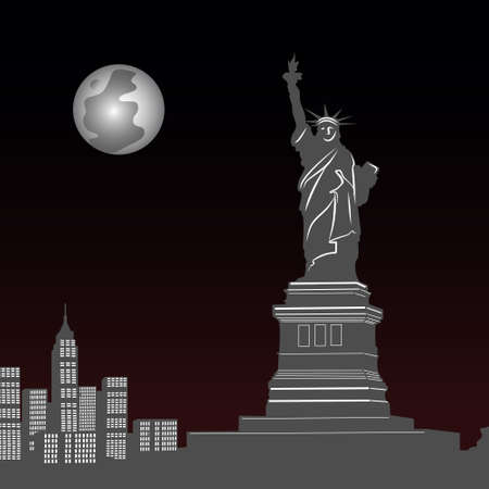 Statue of Liberty in New York, illustration