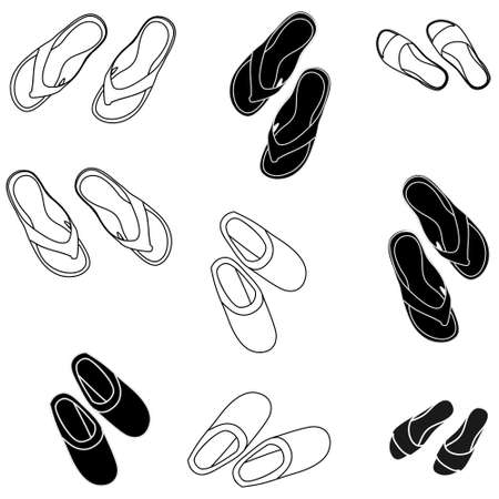 flip flops: flip flops, illustration