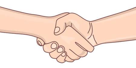 handshaking: handshaking, illustration