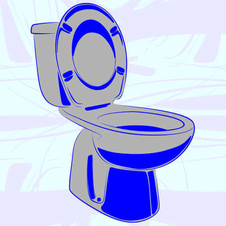 urinate: toilet, illustration Illustration