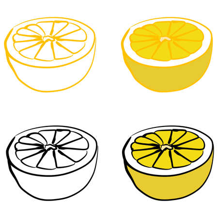 limon: lemon, illustration