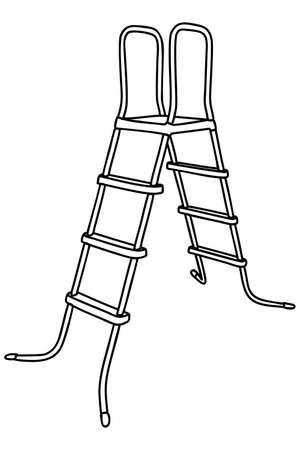 stepladder: Stepladder isolated, illustration Illustration