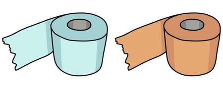 papel higienico: Aseo papel ilustraci�n Vectores