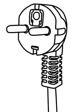 disconnected: power plug, illustration
