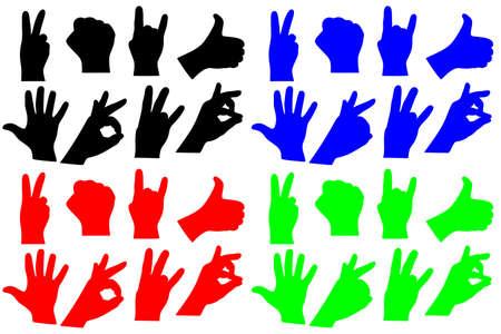 dedo me�ique: Colecci�n de la muestra de la mano