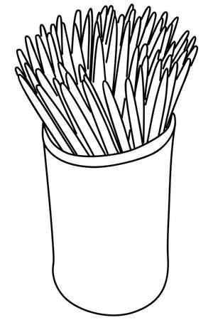illustrazione stuzzicadenti Vettoriali