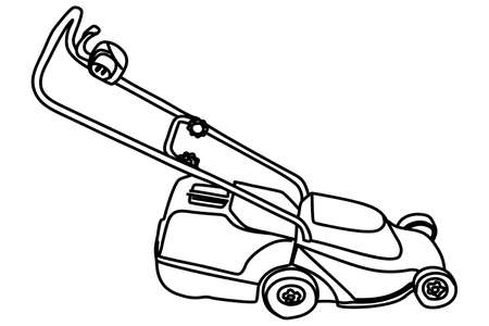 push mower: Lawnmower illustration