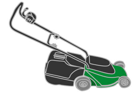 tall and short: Lawnmower illustration
