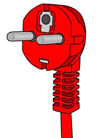 prongs: power plug, illustration