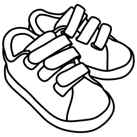 Tying sports shoes, baby, child