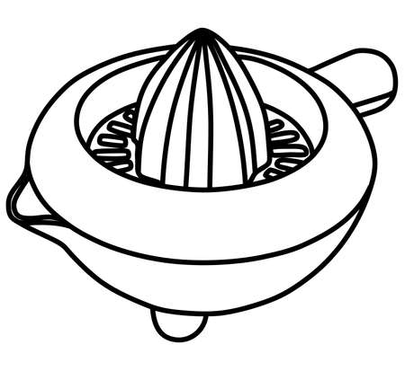 stirring: lemon squeezer, vector illustration Illustration