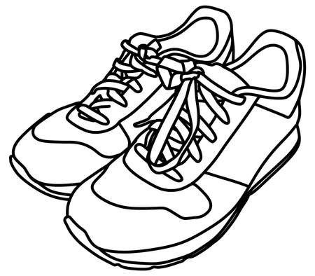 outworn: Tying sports shoes