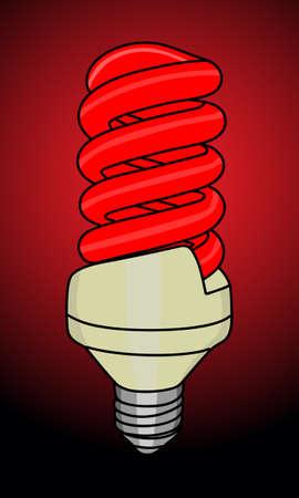 sparingly: illustration of turn on light bulb