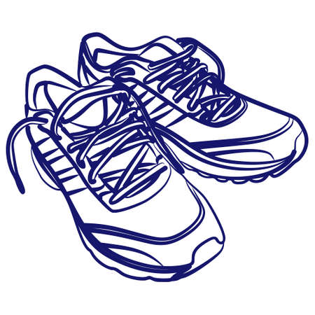 Tying sports shoes