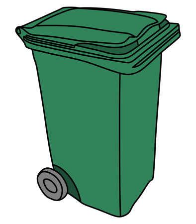 recyclable waste: garbage bin Illustration