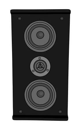 sound speaker: Sound Speaker on white background, vector illustration
