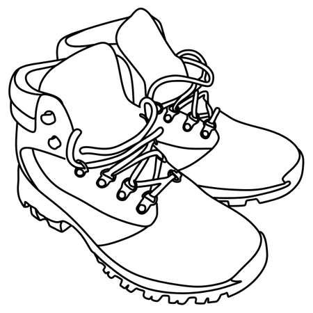 winter boots, vector illustration Vetores