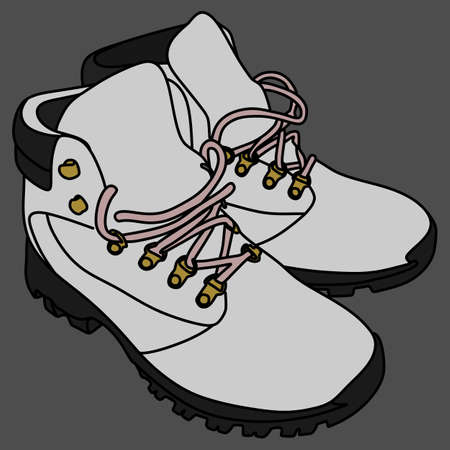 athleticism: winter boots, vector illustration