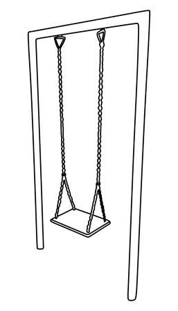 swing set: vector illustration of a playground swing set  Image ID:171400304
