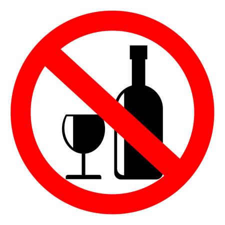 No: No alcohol sign, vector