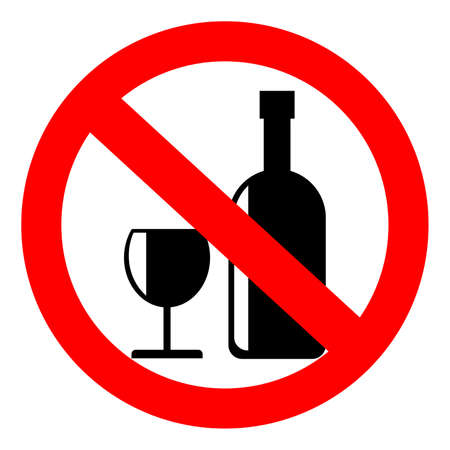 No alcohol sign, vector