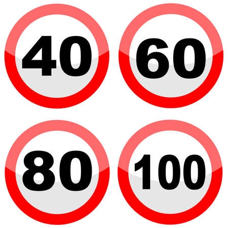 limit: Traffic sign speed limit, vector