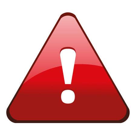 Danger warning sign, vector  イラスト・ベクター素材