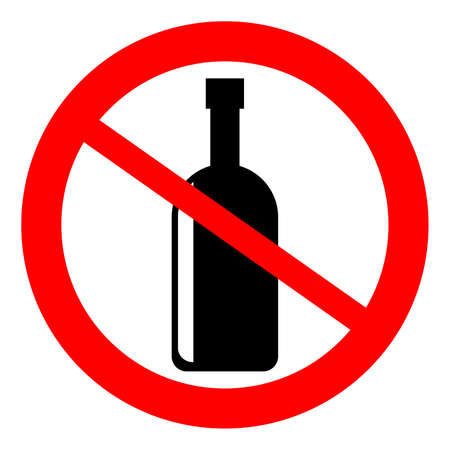 not permitted: No alcohol sign, vector
