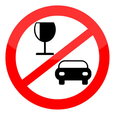 obey: No drink and drive sign, vector illustration