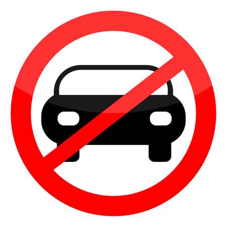 Forbidden car, vector illustration Vettoriali