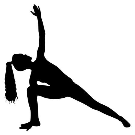 trikonasana: Yoga position - trikonasana Illustration